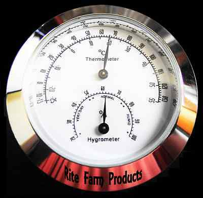 Rite Farm Products Dial Thermometer & Humidity Gauge Hygrometer Egg Incubator