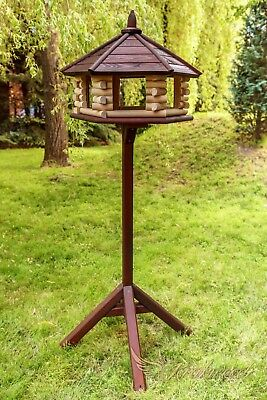 Exclusive Large Wooden Bird Table House, Feeder&House