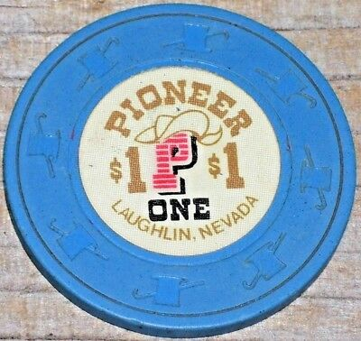$1 2Nd Edt Gaming Chip  From The Pioneer Casino Laughlin  Nv