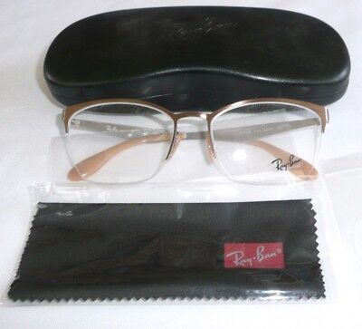 e65edd0170c76 Ray Ban Eyeglass Glasses Frames W Case Rb 6345 2732 2732 54 17 135
