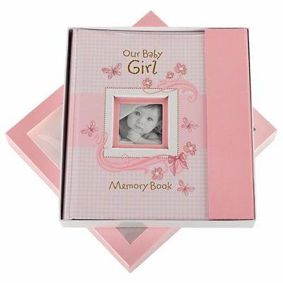 Pink Memory Baby Album Photo Book For Newborn Girl Pad First Vintage NEW