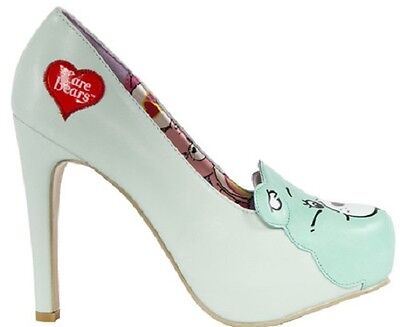 aa7eaf8d77 Iron Fist Care Bear Stare Mint Tattoo Skull Punk Gothic Platform Heels Shoes