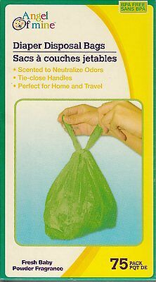 Baby Powder Scented Diaper Disposable Bags 75 ct, 150 ct, or 300 ct Free Ship