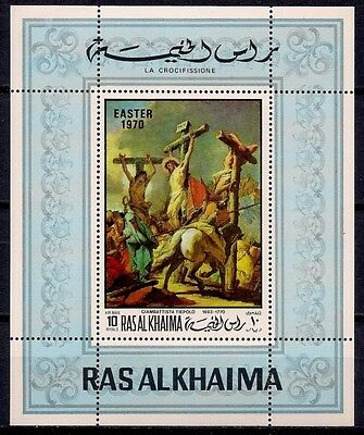 Ras Al Khaima 1970 Easter Crucifixion Paintings by Tiepolo Religione m/s MNH