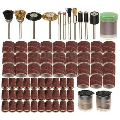 "150 Pcs Rotary Power Tool Set Kit For 1/8"" Shank Sanding Polish Accessory Bit"
