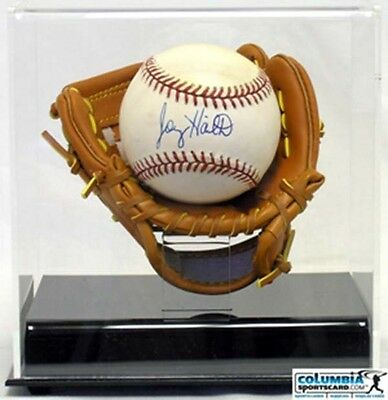 Deluxe Acrylic Soft Mini Glove MLB Baseball Display Case - New!