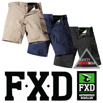 FXD LS1 [Lightweight] Workwear Work Shorts Cargo Quick Dry Khaki Navy Black