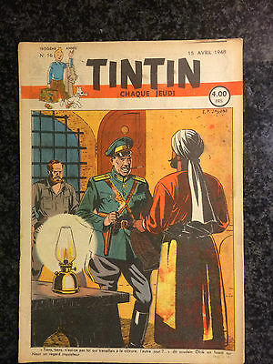 Journal Tintin - 15 avril 1948 - Couverture Blake & Mortimer - E.P. Jacobs