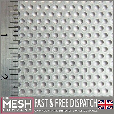 Galvanised Steel-Perforated Sheet-3mm Hole-5mm Pitch-1mm Thickness -MEGA LISTING