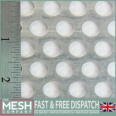 10mm Hole x 15mm Pitch x 1mm Thick Aluminium Perforated Mesh Sheet Plate