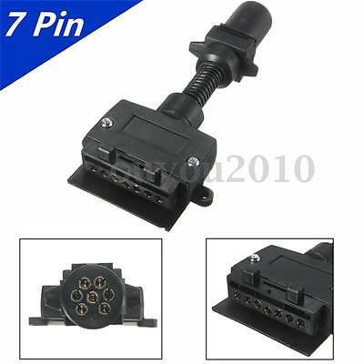 7PIN Flat&Round Female Trailer Light Plug Connector Socket Caravan Boat Truck