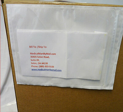 "6"" x 9"" Clear Plain Re-Closable Style Packing List Envelopes 6000 Pcs"