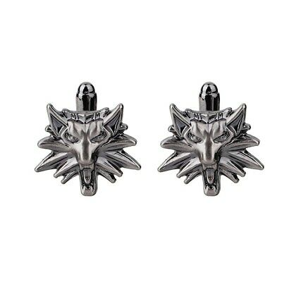 The Witcher 3 Wild Hunt Inspired Cufflinks for Mens Costume prop Accessories