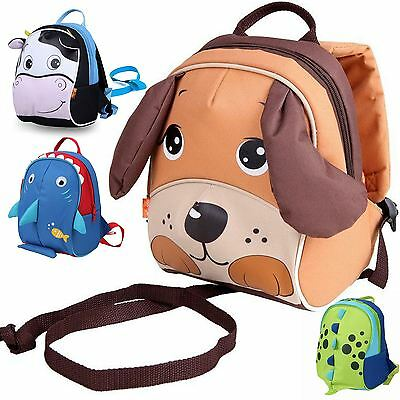 Babyhugs Kids Toddler Insulated Backpack Lunchbag with Safety Harness Reins