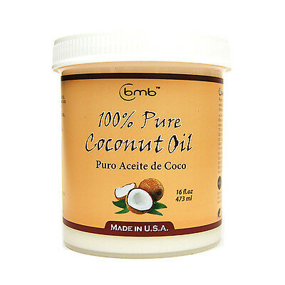 BMB 100% Pure Coconut Oil for Hair and Skin Puro Aceite De Coco 16 oz