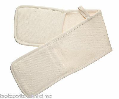 Kitchen Craft Heavy Duty Catering Thick White Cotton Double Oven Glove / Mitt