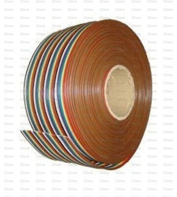 1M 3.3ft 40 Pin Flat Color Rainbow Ribbon IDC Cable Wire Rainbow Cable