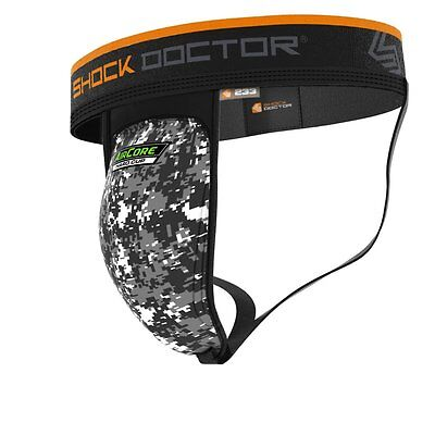 New Shock Doctor Adult Support w Air Core Camo Soft Cup Max Comfort 30% Lighter
