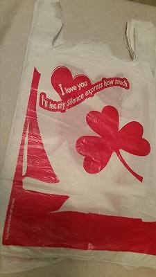 New 500 T-Shirt Carry Out Retail Plastic Bags Grocery Shoppin- PURE RESIN