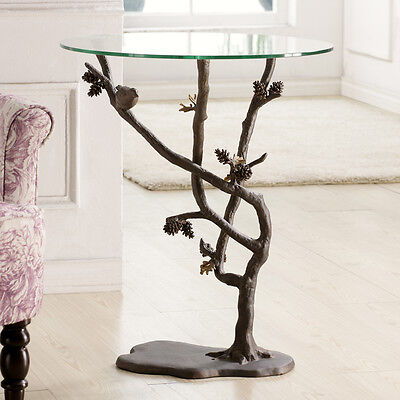 SPI Home Collection Bird & Pinecone Table