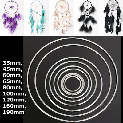 33mm~190mm DREAMCATCHER METAL HOOP Indian Feathers Mobiles Ring Pentacles Dream