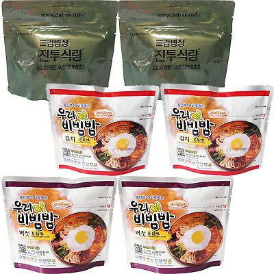 x 6 packs Korean Military MRE Camping Food Mixed Rice Combat Emergency Rations