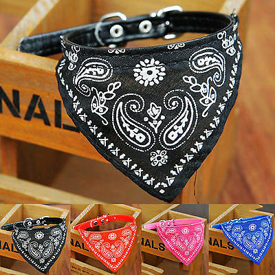 Hi Small Adjustable Pet Dog Puppy Cat Neck Scarf Bandana with Collar Neckerchief