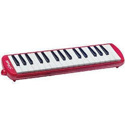 Stagg MELOSTA32 Melodica Reed Wind Piano Plastic Keyboard Red With Carry Case