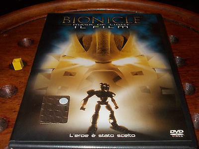 """Bionicle"" Mask of the Light Il Film Ologramma Tondo Dvd ..... Nuovo"