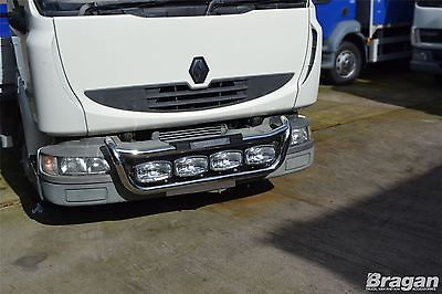 Renault Midlum Stainless Steel Front Grill Spot Light Bar C