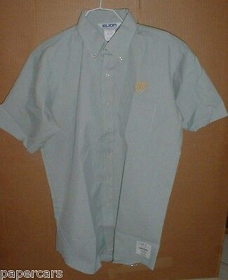 Mens BP Gasoline Oil Service Station vintage Dress Work Shirt LG NEW USA Made