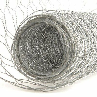 Wire Netting Chicken Rabbit Galvanised Garden Fence Mesh Net Border Fencing 25Mm