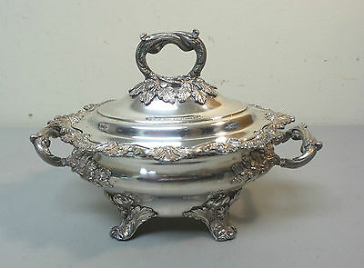 GORGEOUS OLD SHEFFIELD PLATE (OSP) LIDDED SAUCE TUREEN, c. 1830's