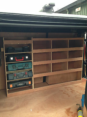 Vauxhall Vivaro Plywood Racking With Drill / Service Case Storage