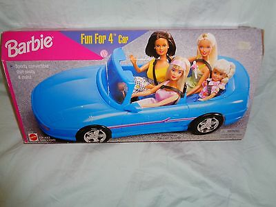 Barbie Fun For 4 Car Sporty Convertible 1998 New