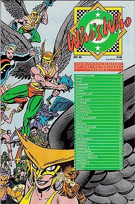 Who's Who: The Definitive Directory Of The Dc Universe Vol X Dec 1985 Nm Cond