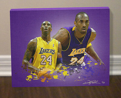 KOBE BRYANT 12x16 Los Angeles LAKERS Limited Edition CANVAS print