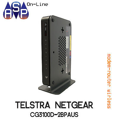 Brand New Telstra Netgear Cable Home Network Gateway Router Modem Cg3100D-2Bpau