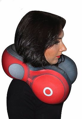 Large Headphone Style Travel Cushion Accessory Soft Plush Neck Pillow