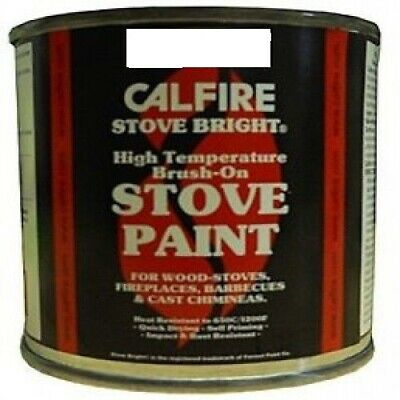 Calfire Brush On Stove Fireplace Cooker Coal Paint Satin Black
