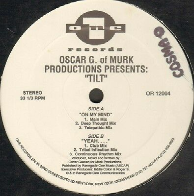 OSCAR G - On My Mind / Yeah - 1992 One Records - OR12004 Usa