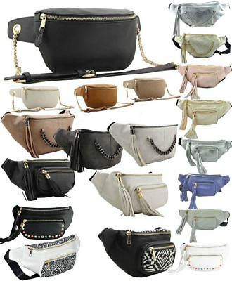 New Ladies Bumbag Fanny Pack Chain Aztec Tacoma Festival Money Pouch Tassel Bag