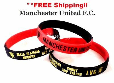 MANCHESTER UNITED Wristband Men Women Accessories Football F.C. Souvenir Charms