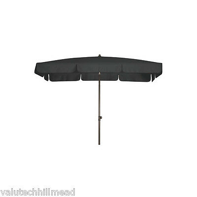 Doppler Sunline Waterproof Rectangular Market Parasol in Anthracite
