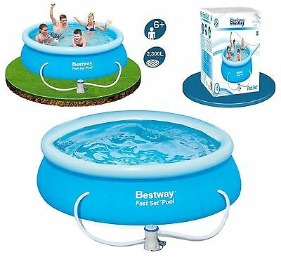Bestway Fast Set Pool 8Ft With Pump, 10Ft With Pump, 12Ft No Pump, Pool Heater.