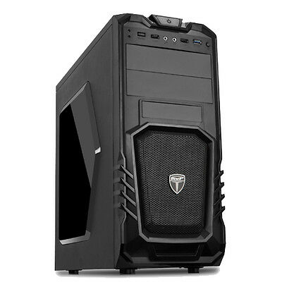 AvP STORM 27 BLACK ATX GAMING TOWER CASE WITH FRONT USB 3.0 & HD AUDIO MIC PORTS