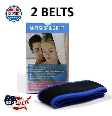 TWO Stop Snoring Chin Strap SNORE BELT Anti Apnea Jaw Solution Sleep TMJ Support