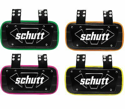 New Schutt Youth / Adult Neon Football Back Plate - Yellow / Pink