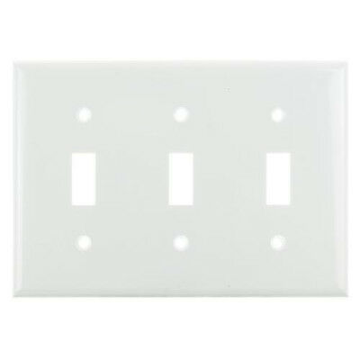 SUNLITE 3 Gang Toggle Plate White Color E103W