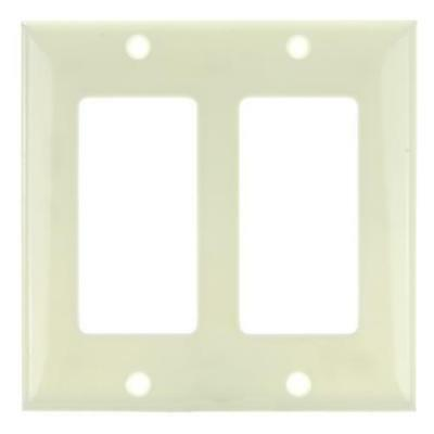SUNLITE 2 Gang Decorative Plate Almond Color E302A